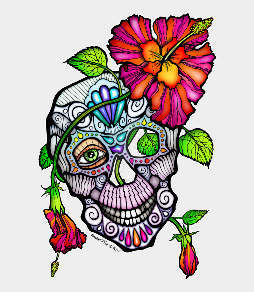 day of the dead clipart free, Cartoons - Sugar Skull Flowers Pictures And Cliparts Free - Flower