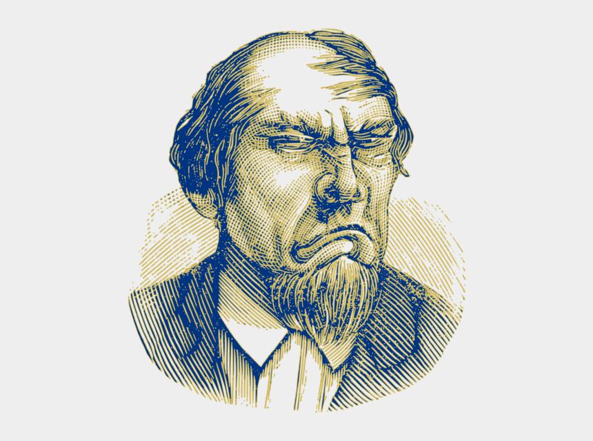 clipart graphic artist, Cartoons - Head,art,money - Vintage Illustration Grumpy Face