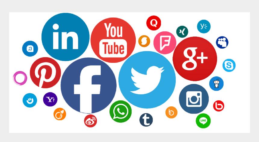 media clip art images, Cartoons - Social Network Computer Network Social Media Marketing - Transparent Background Social Media Png
