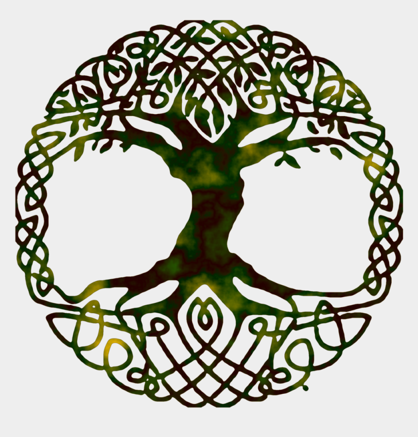 free gospel music clipart, Cartoons - Life Of Symbol Tree Yggdrasil World Gospel Clipart - Tree Of Life Symbol No Background
