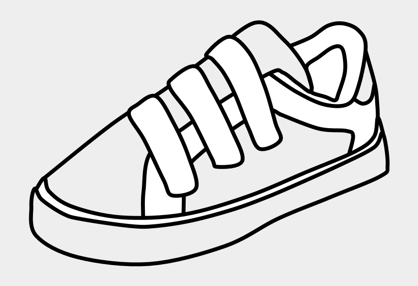 free walking shoes clipart, Cartoons - Sneakers, Velcro, Black And White, Png - Clipart Sneakers Velcro