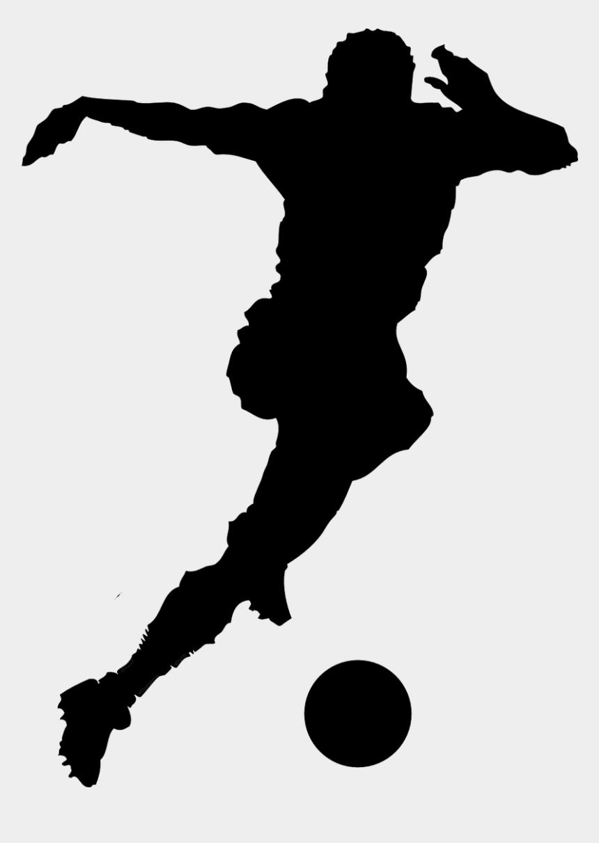 soccer clip art, Cartoons - Football Player Clip Art - Soccer Black And White