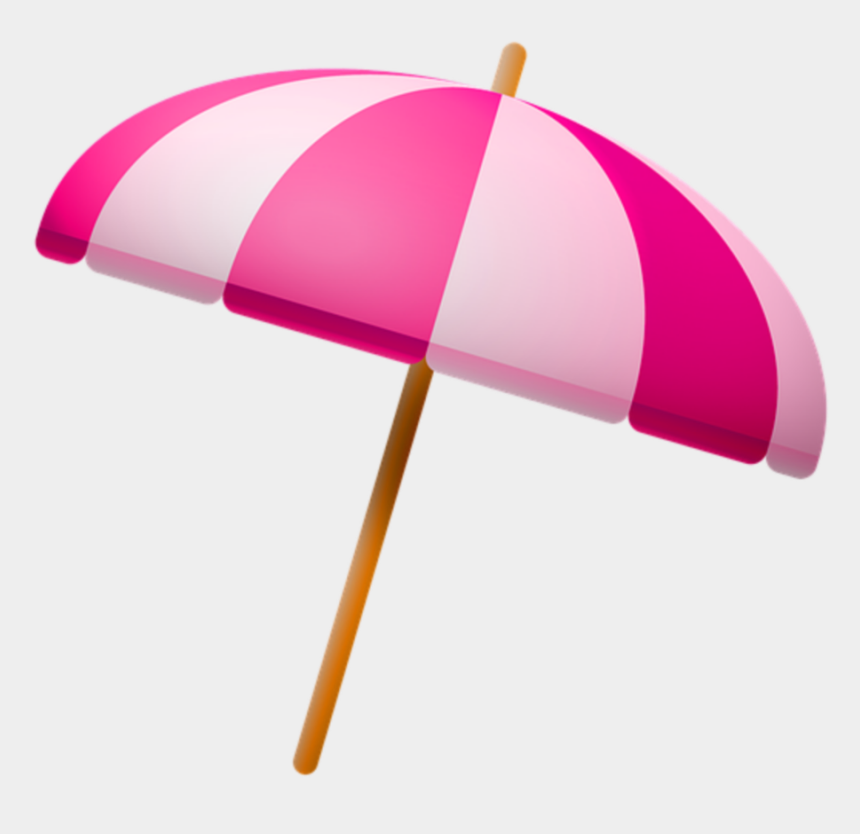 umbrella clip art, Cartoons - #ftestickers #clipart #beach #umbrella #beachumbrella - Pink Beach Umbrella Clipart