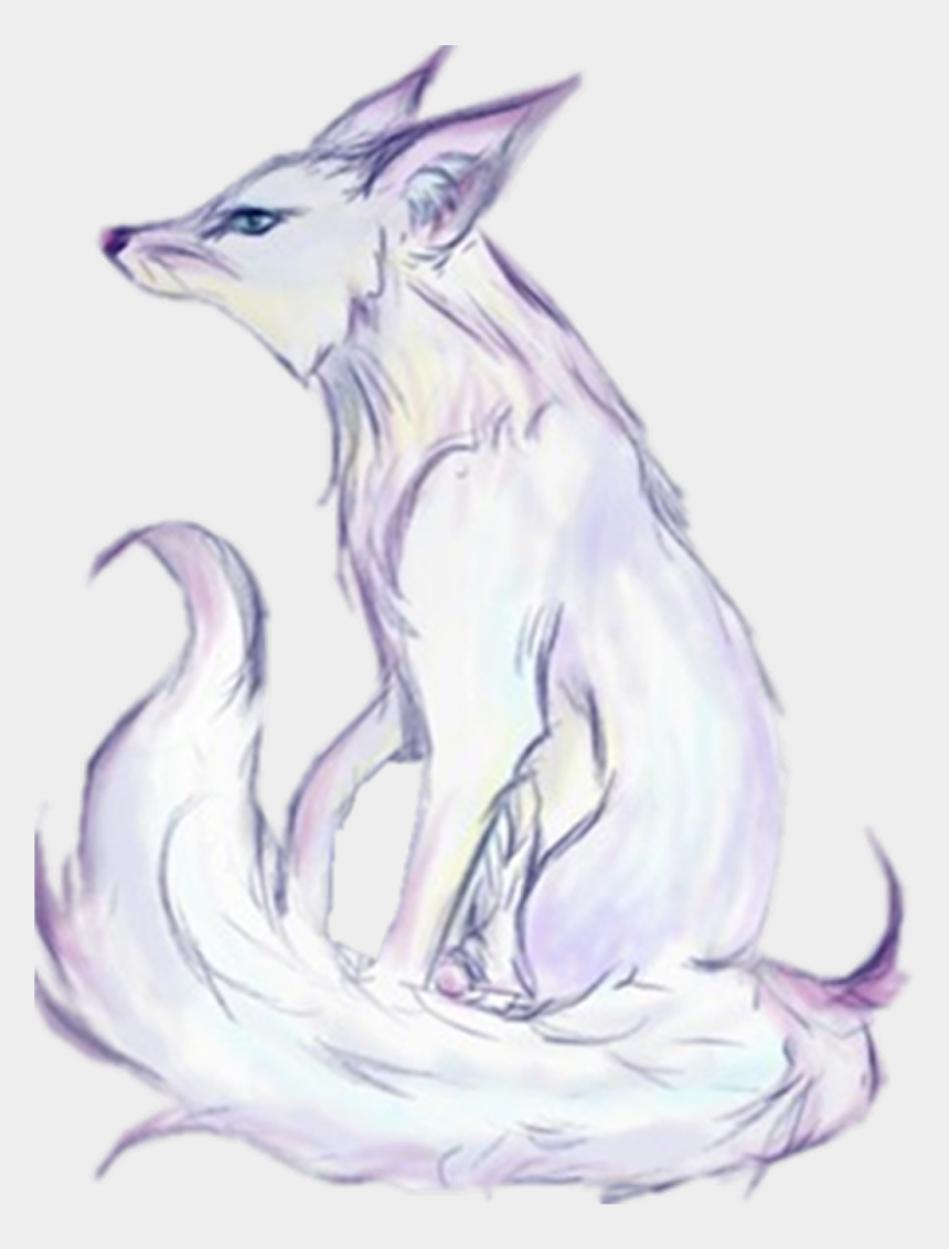 wolf clip art, Cartoons - Arctic Fox Gray Wolf Clip Art - White Fox Animal Anime