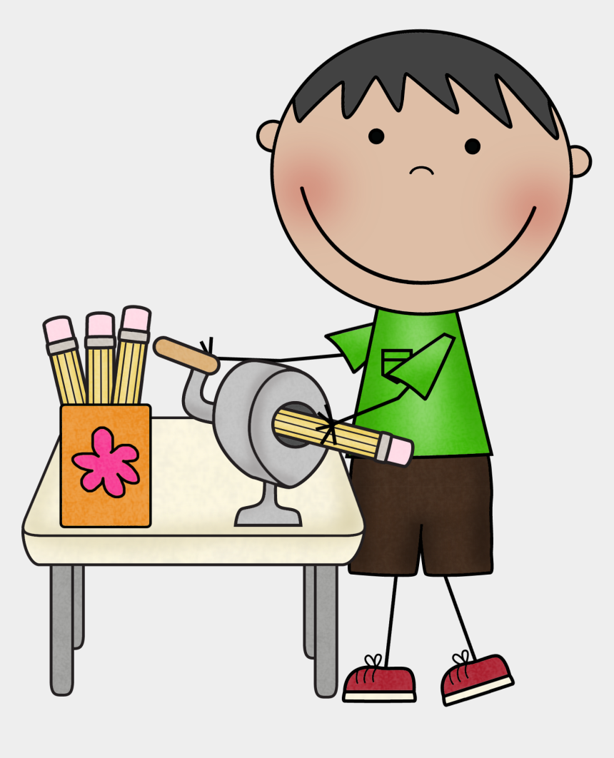 pencils clipart, Cartoons - Clipart Of Jobs, Assistant And Classroom - Pencil Sharpener Clip Art