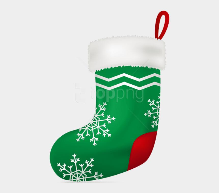 christmas stockings clipart, Cartoons - Christmas Green Stocking Png - Christmas Stocking Png Transparent