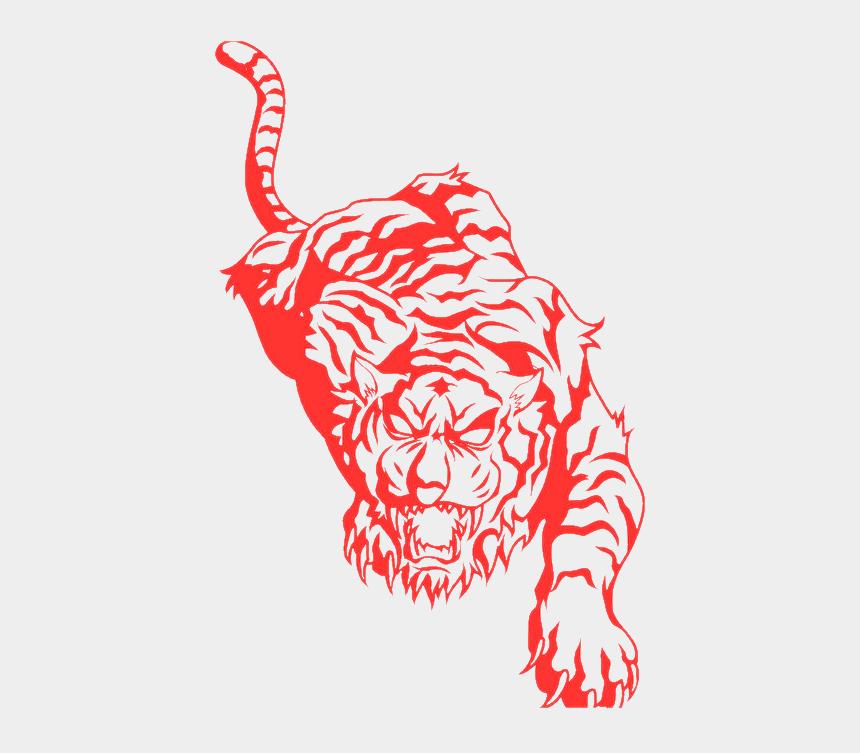 panther clip art, Cartoons - Tiger Tattoo Art Png