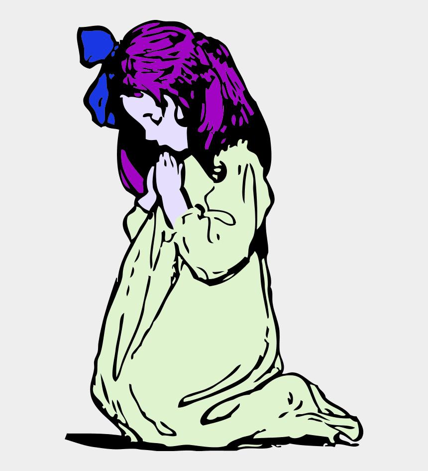 praying hands clip art, Cartoons - Girl Praying Clip Art