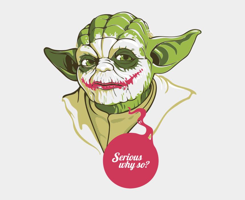 yoda clip art, Cartoons - Yoda Joker Luke Skywalker T-shirt Anakin Skywalker - So Serious Star Wars