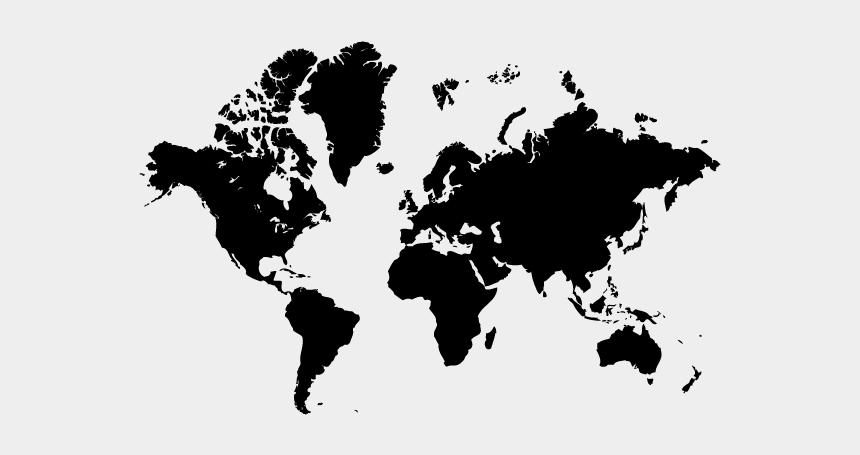 world map clip art, Cartoons - World Map Silhouette Tattoo