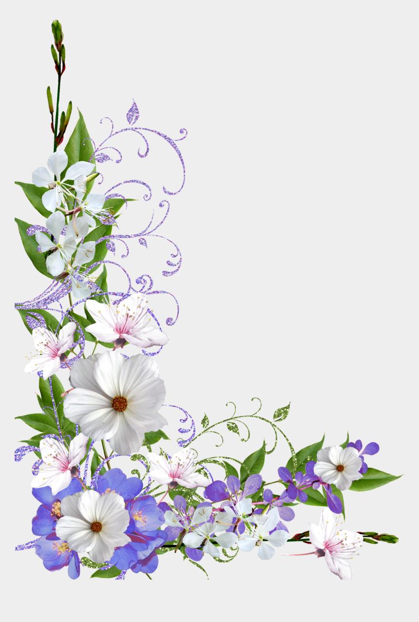 flower border clip art, Cartoons - Border Flower Frame Png