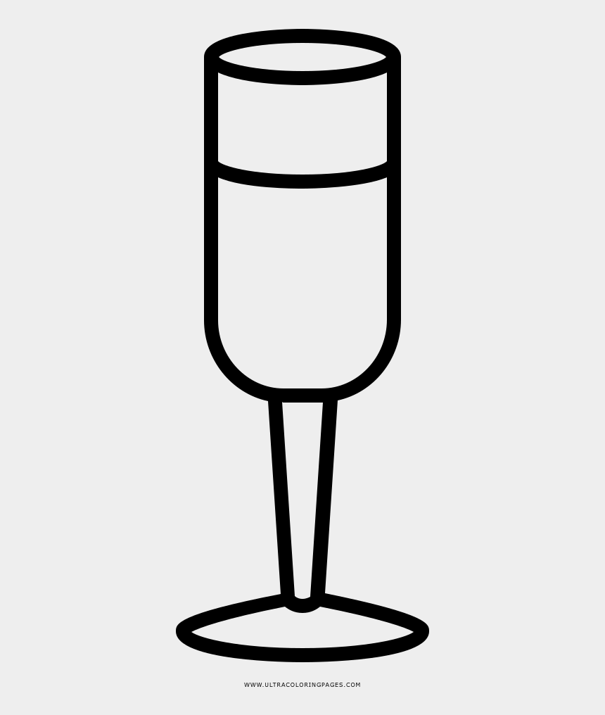 flute clip art, Cartoons - Champagne Flute Coloring Page - Glasses Cup Coloring Pages