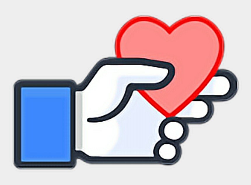 facebook clip art, Cartoons - Like Heart Hand Ftestickers Stickers Autocollants Smil - Sticker Comment On Facebook
