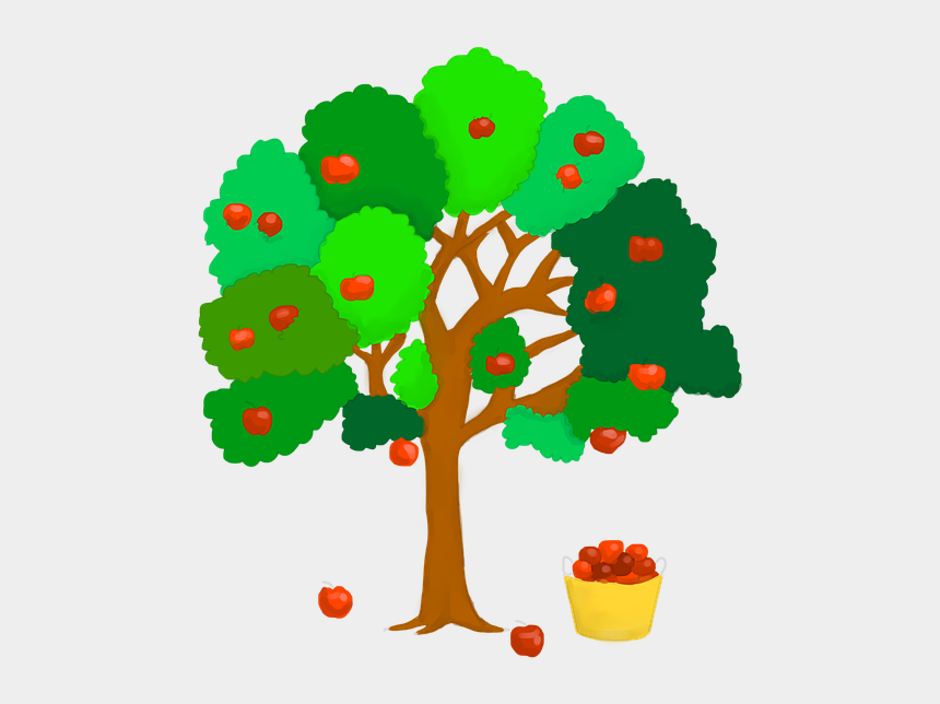 apple tree clip art, Cartoons - Apple Tree, Apple, Red, Branch, Vitamins, Healthy - ต้น แอ ป เปิ้ ล การ์ตูน