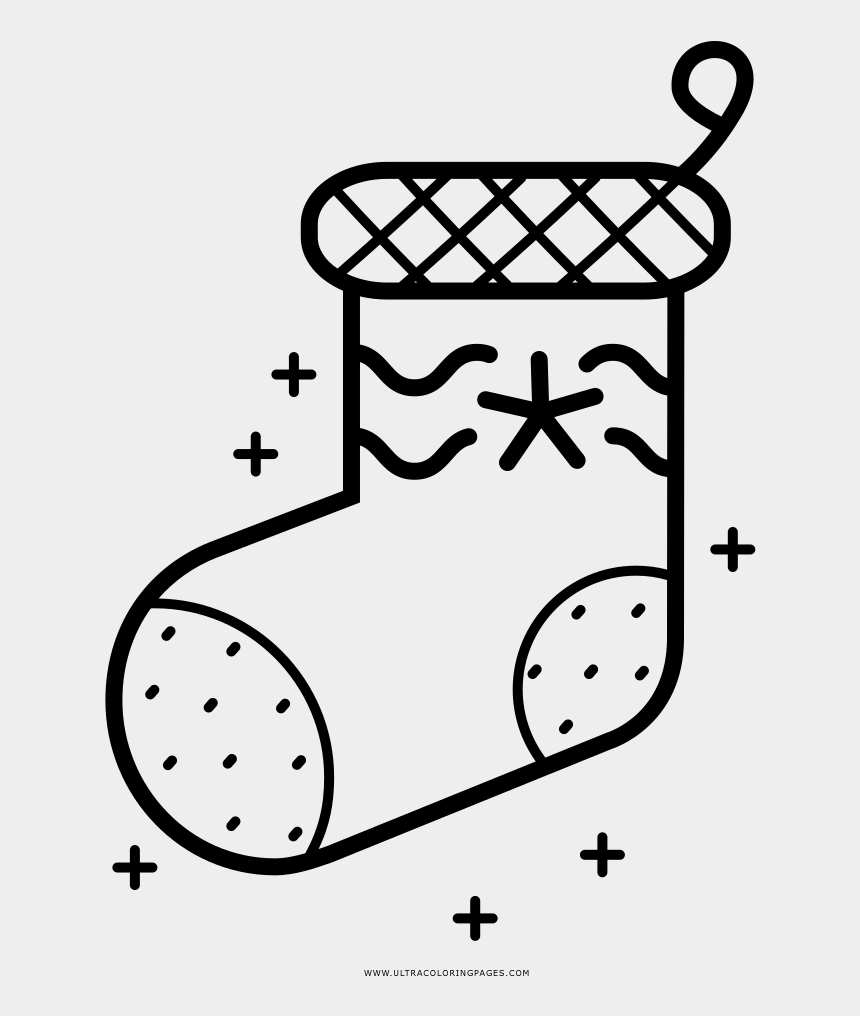 stocking clip art, Cartoons - Christmas Stocking Coloring Page - Line Art