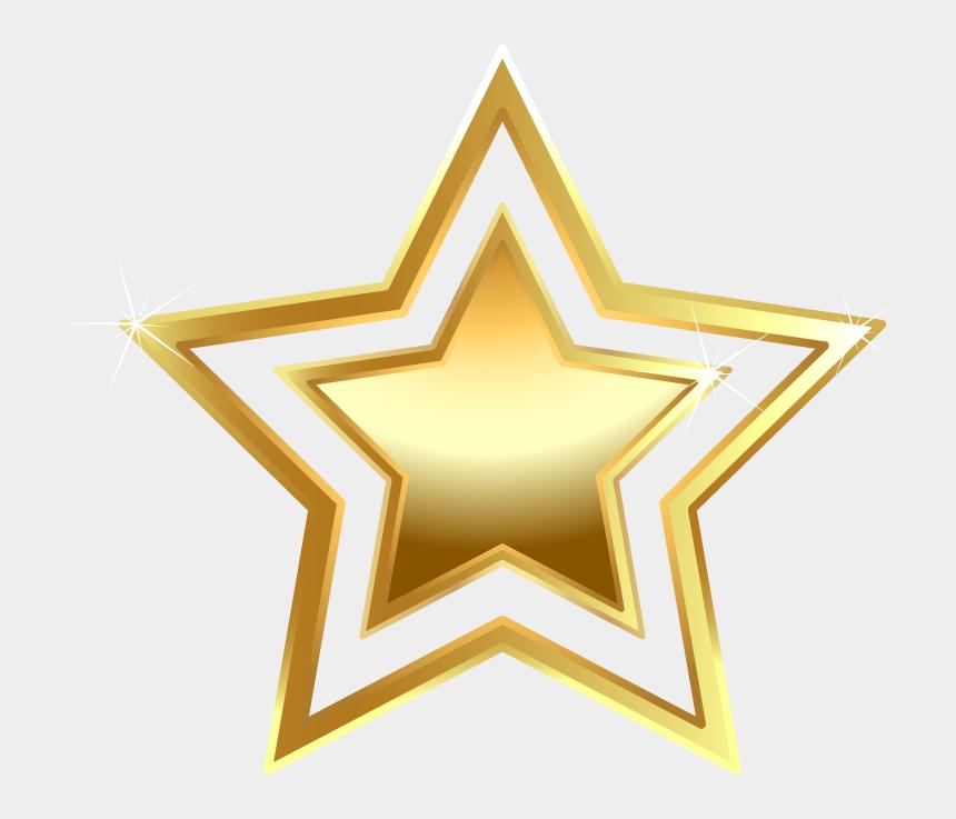 gold star clip art, Cartoons - Shandong Golden Stars Clip Art - Gold Star Transparent Background