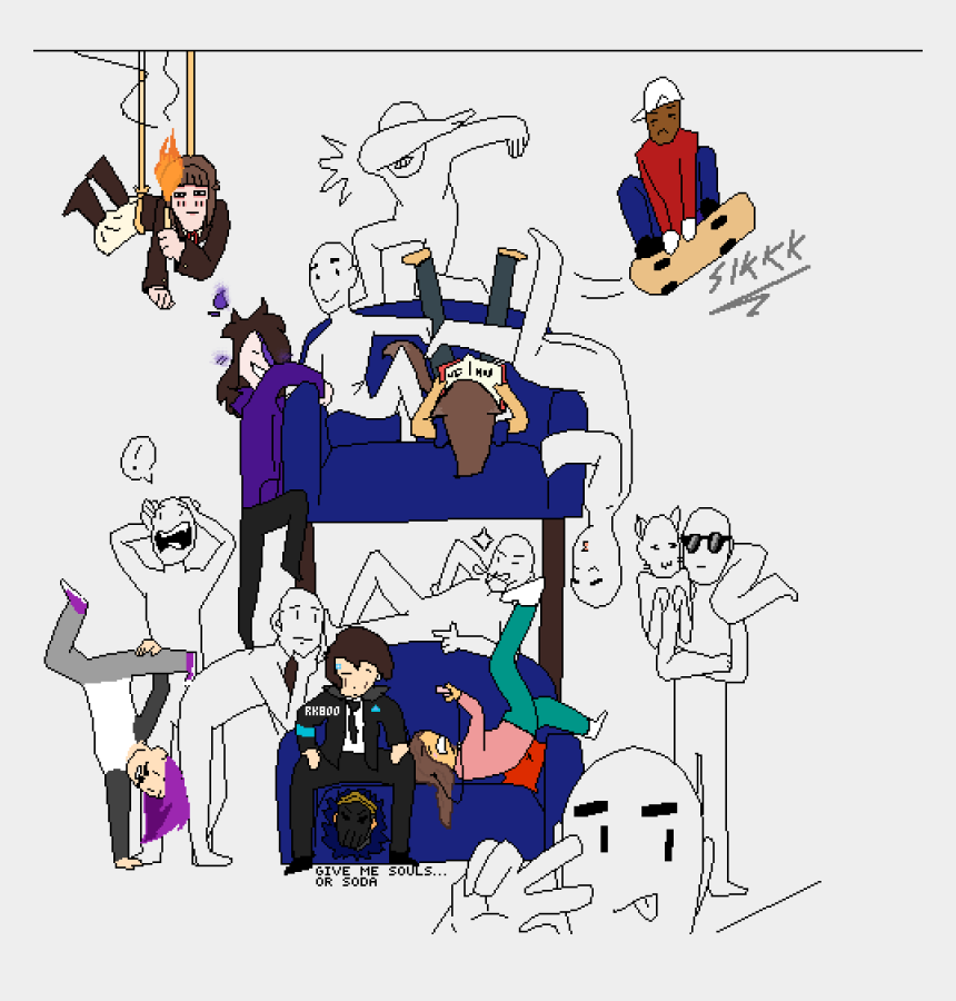 skateboarding clip art, Cartoons - Draw The Squad Couch