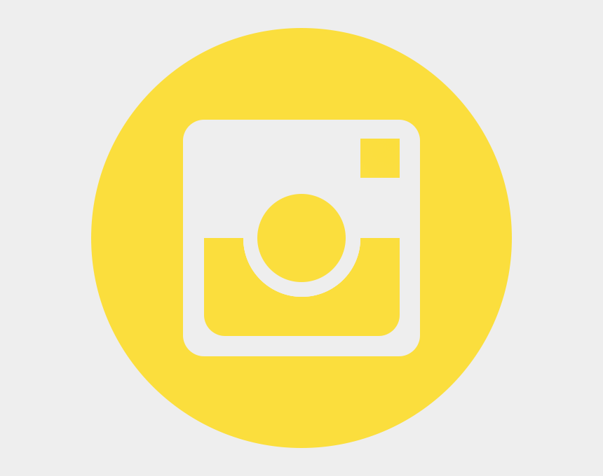 instagram clip art, Cartoons - Circle Instagram Yellow Logo