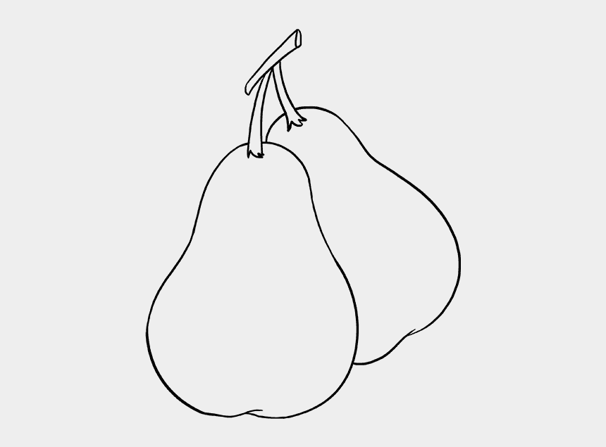 pear clip art, Cartoons - How To Draw Pears - Line Art