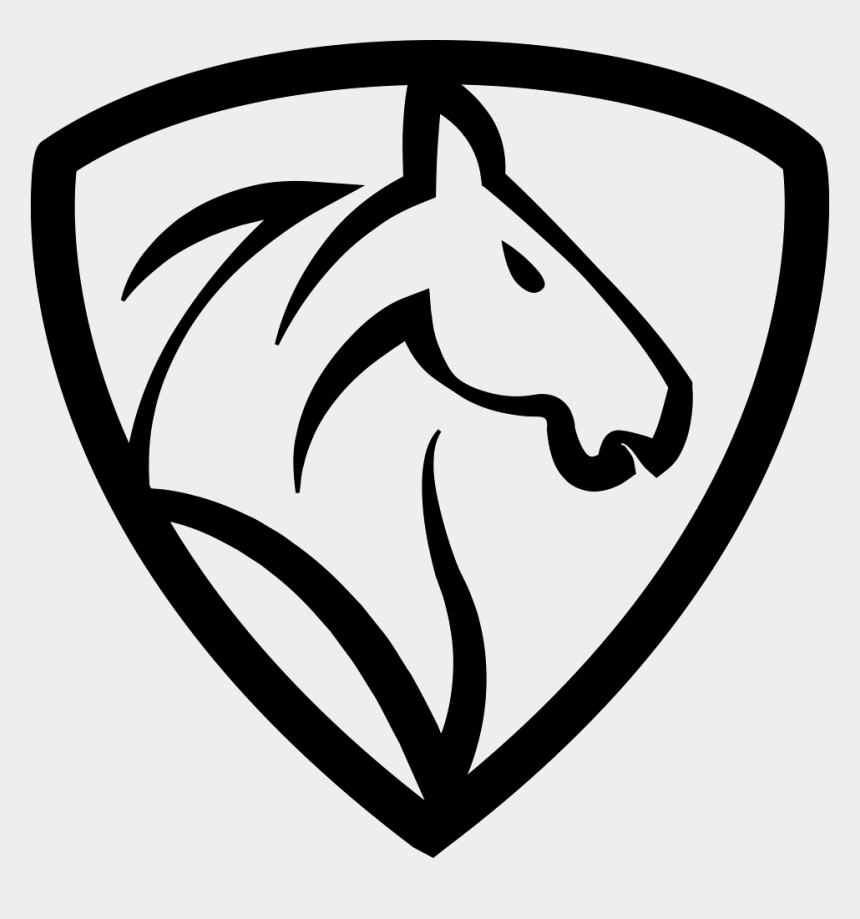 horse heads clip art, Cartoons - Horse Head In A Shield Comments - Outline Horse Head Logo