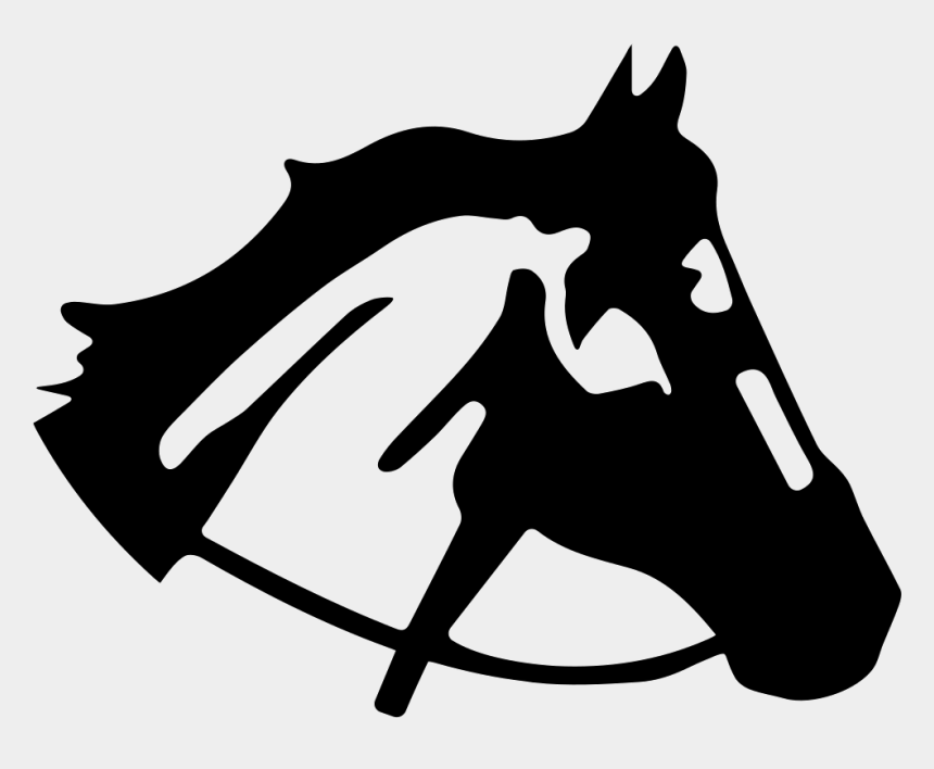 horse heads clip art, Cartoons - Horse Head Right Side View Silhouette - Silueta De Cabeza De Caballo Png