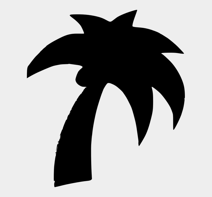 coconut clipart, Cartoons - Palm Tree Palm Coconut Tropical Tree Nature Beach - Palm Trees Clipart Black