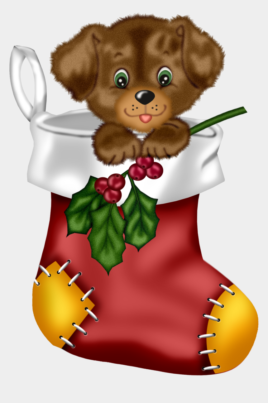 stocking clipart, Cartoons - Kittens Clipart Christmas Stocking Clipart - Cute Christmas Puppy Clipart
