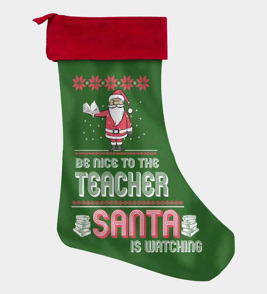 stocking clipart, Cartoons - Image - Homemade Christmas Card For A Teacher
