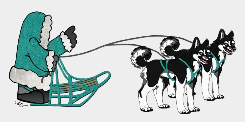 team clipart, Cartoons - Sled Dogs Team Clipart - Iditarod Dog Sled Clip Art