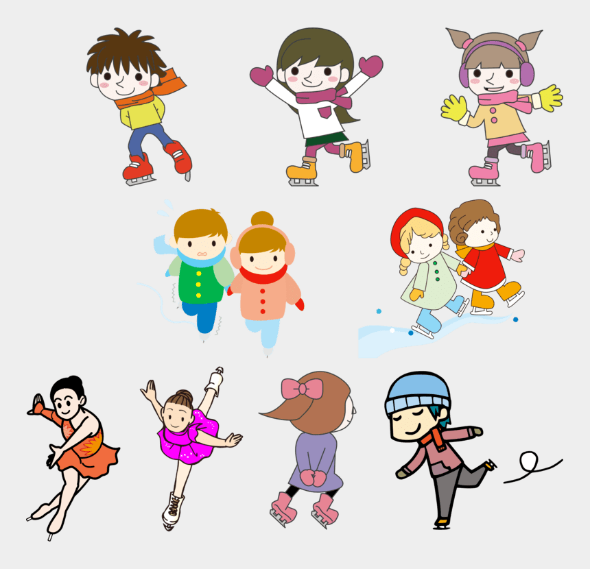 games clipart, Cartoons - Sports And Games Clipart - Kids Winter Olympic Clipart