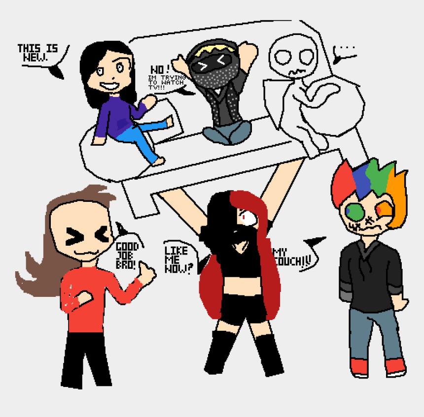 good job clip art, Cartoons - Draw The Squad Lifting Couch