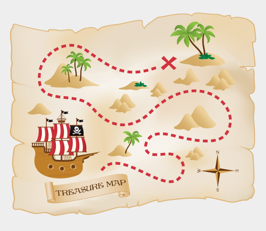 treasure map clip art, Cartoons - Fun Treasure Map For Kids