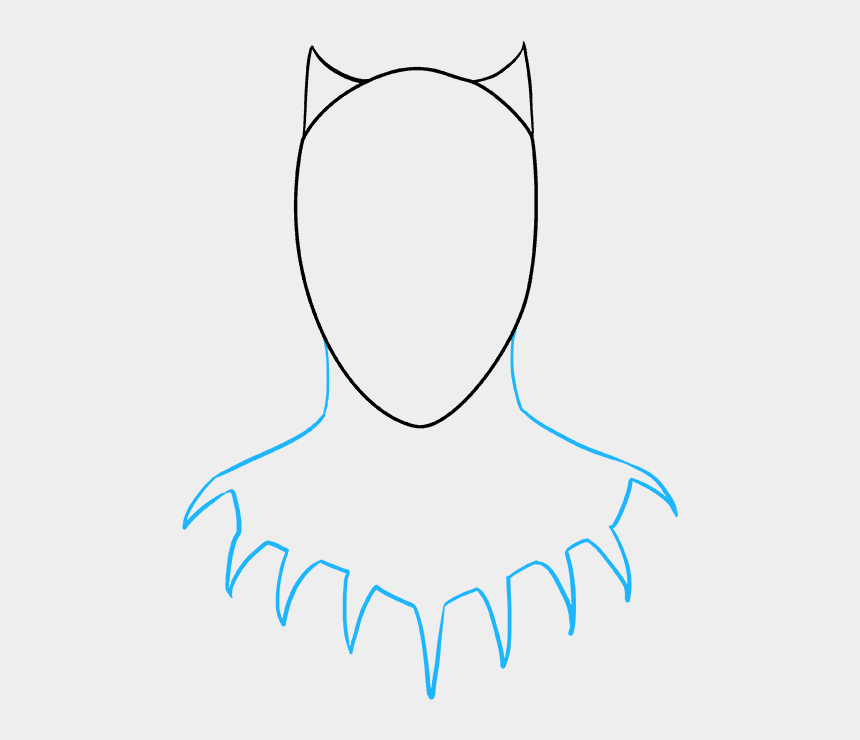 black panther clip art, Cartoons - How To Draw Black Panther - Step By Step Black Panther Drawing