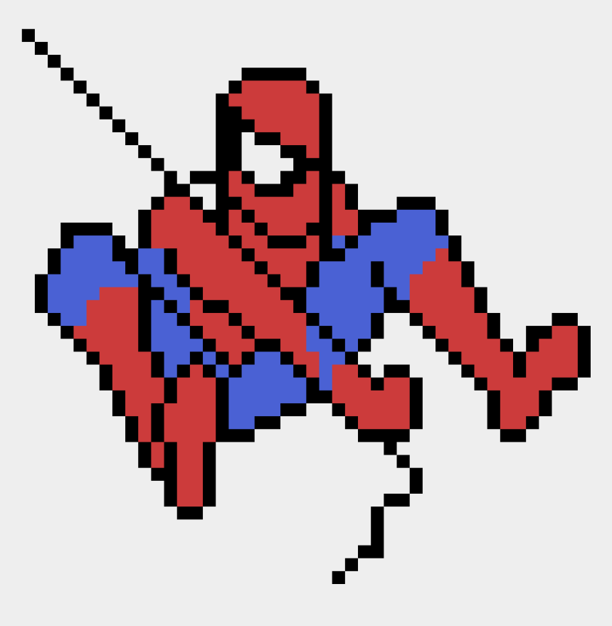 spider man clip art, Cartoons - Spider Man Pixel Art