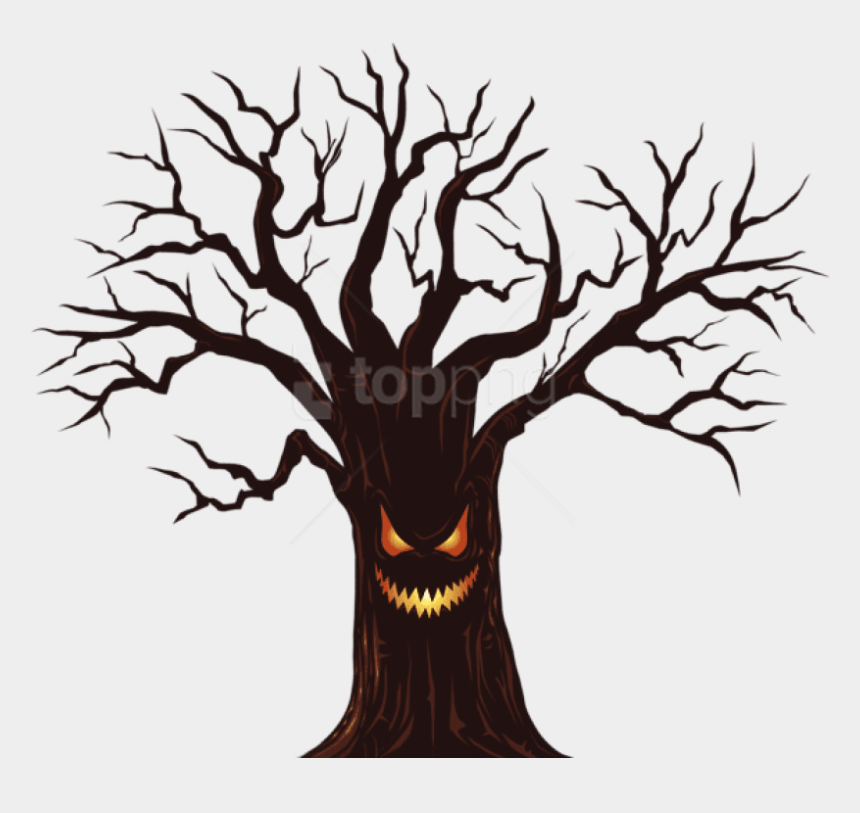 tree roots clip art, Cartoons - Tree,branch,woody Art,plant Stem,art - Spooky Tree Clipart