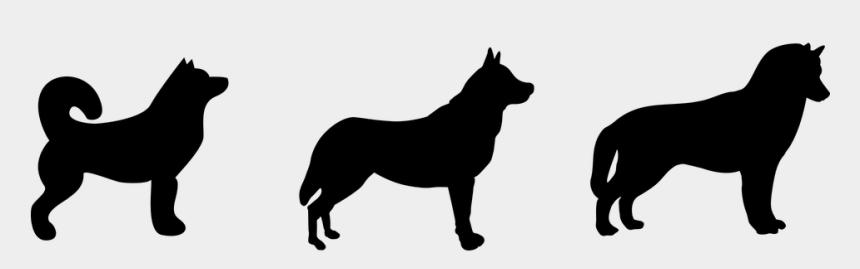 husky clip art, Cartoons - Husky, Dog, Silhouette, Black - Dog