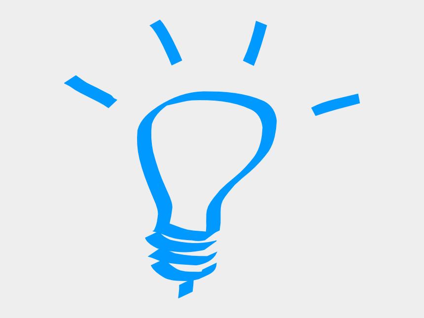 idea clip art, Cartoons - Lightbulb Blue At Clker - Light Bulb Clip Art