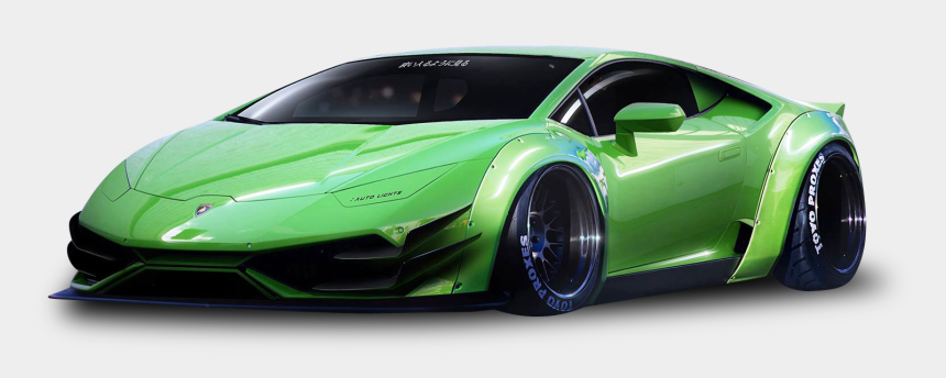 lamborghini clipart, Cartoons - Green Sports Car Png - Lamborghini Aventador Groen Poster