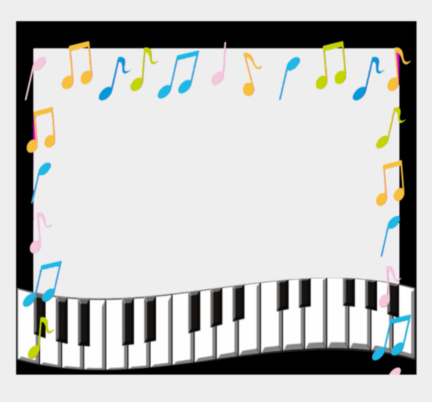music border clip art, Cartoons - Transparent Music Frame Png - Music Notes Border Frame