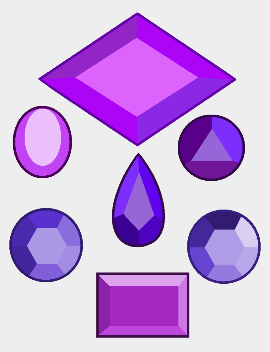 gems clipart, Cartoons - Main Purple Diamond Gems - Steven Universe White Diamond Gemstone