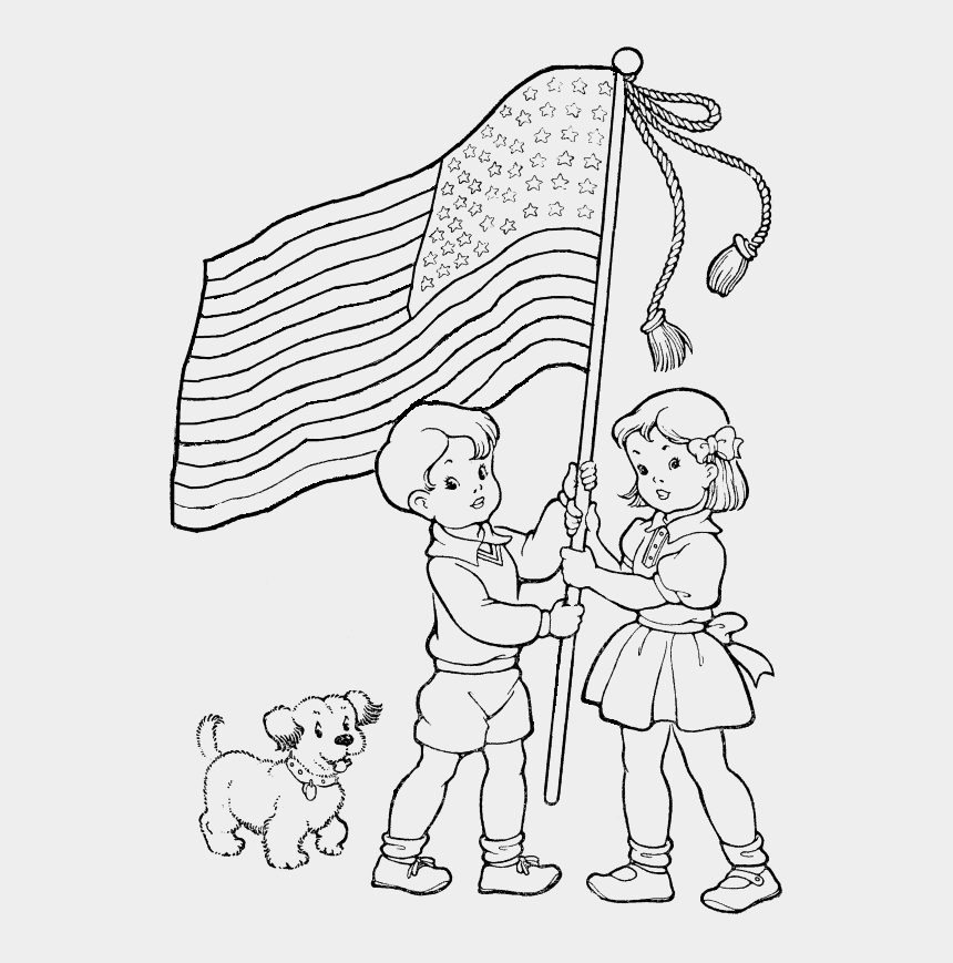 memorial day clip art black and white, Cartoons - Sketch Flag Hoisting Coloring Pages Independence Day