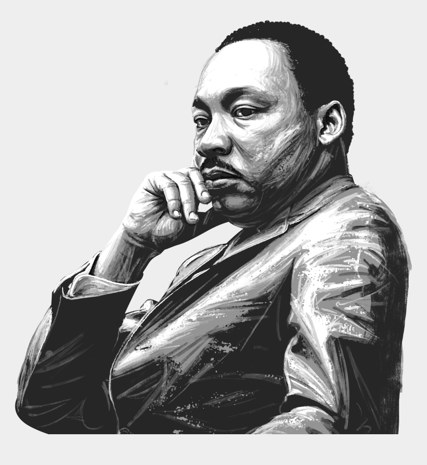 martin luther king jr day clip art, Cartoons - Mlk Clipart Sketch - Jr Day Martin Luther King Jr