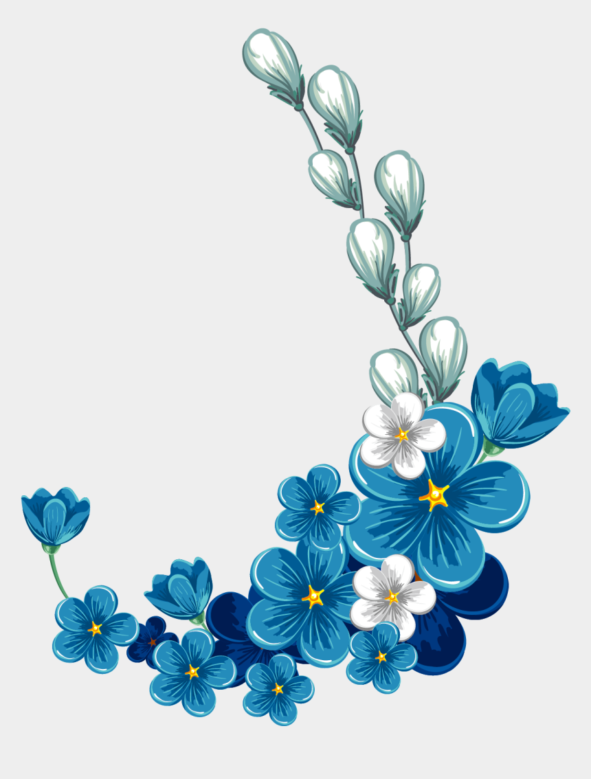blue flower clip art, Cartoons - Flower Stock Photography Clip Art - Blue Flower Frame Png