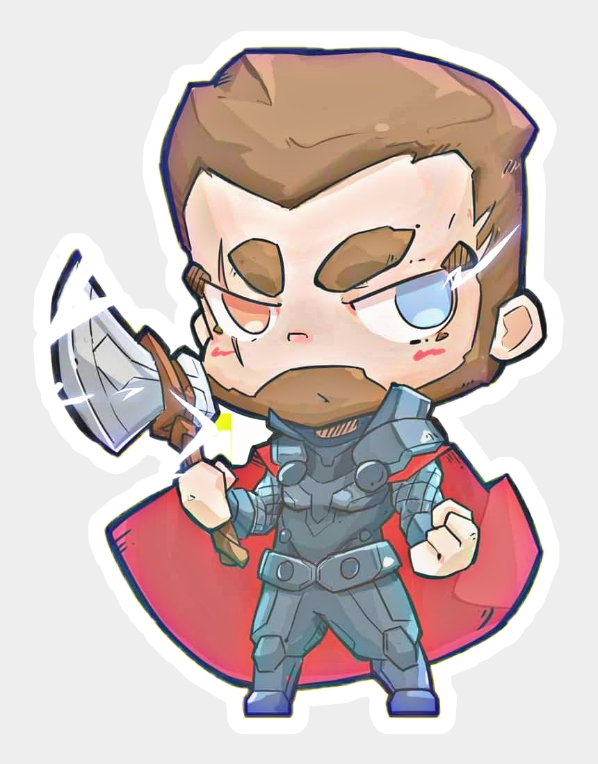 thor clip art, Cartoons - Thor Chibi Fan Art Sticker - Thor Chibi Avengers Endgame