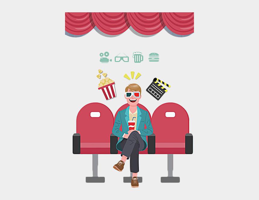 clip art movie, Cartoons - Movie Clipart Cine - Man Watching Movies Cartoon
