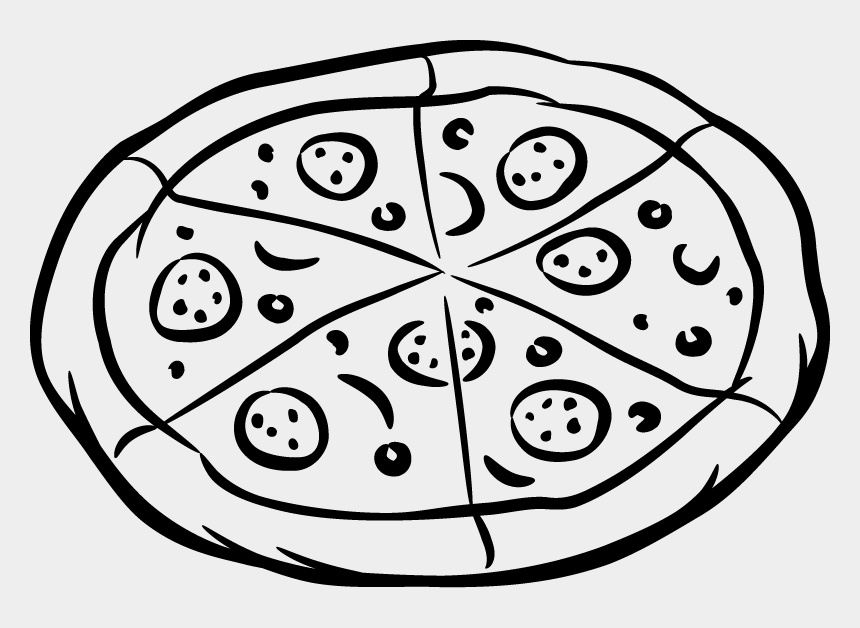 pizza clip art black and white, Cartoons - Pizza - Pizza Picture Black And White