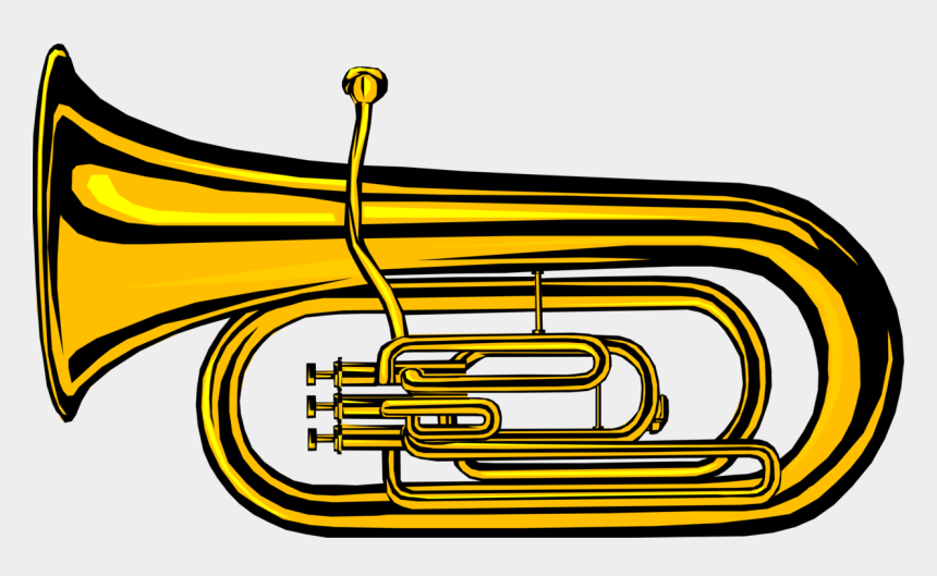 tuba clip art, Cartoons - Vector Illustration Of Tuba Large Brass Low-pitched - Clip Art