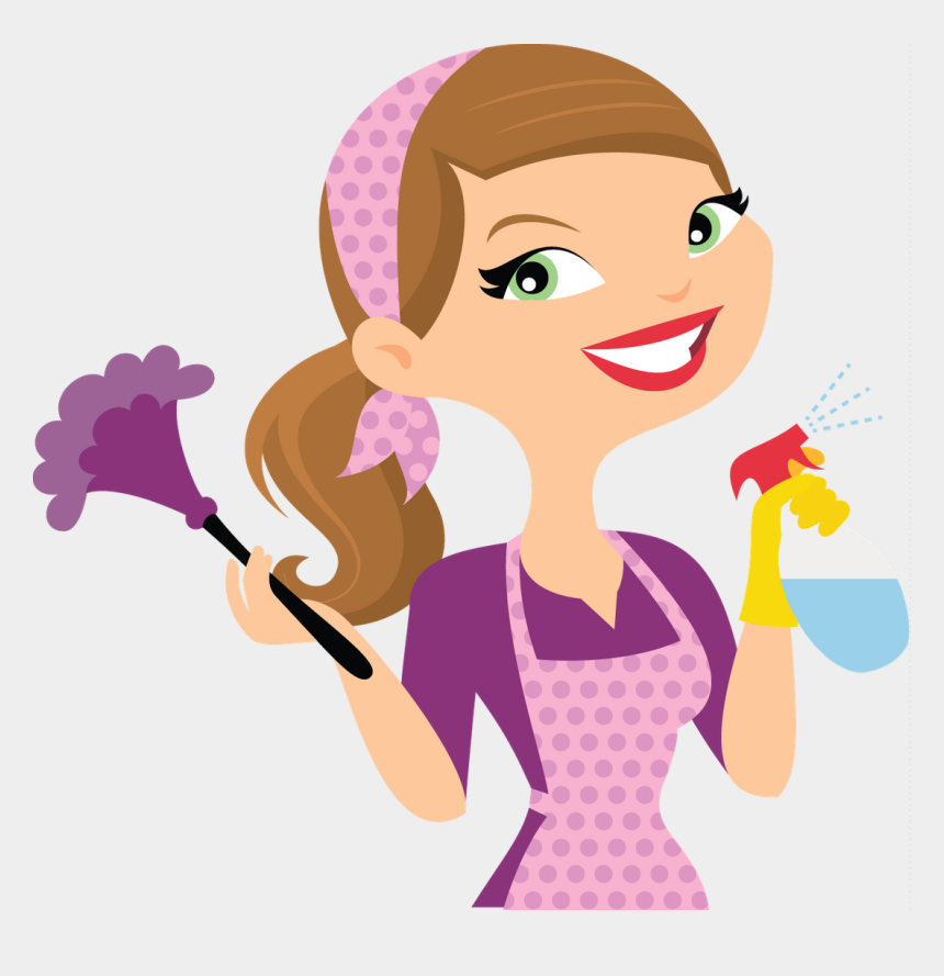 dusting clipart, Cartoons - Cleaning Lady Cartoon Clipart , Png Download - Cleaning Lady Clean Services Logo