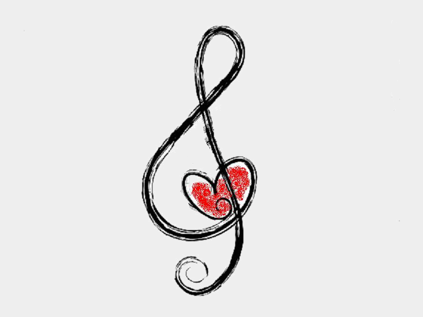 Treble and Bass Clef Heart - ClipArt Best - ClipArt Best | Clef heart, Treble  clef heart, Heart tattoo