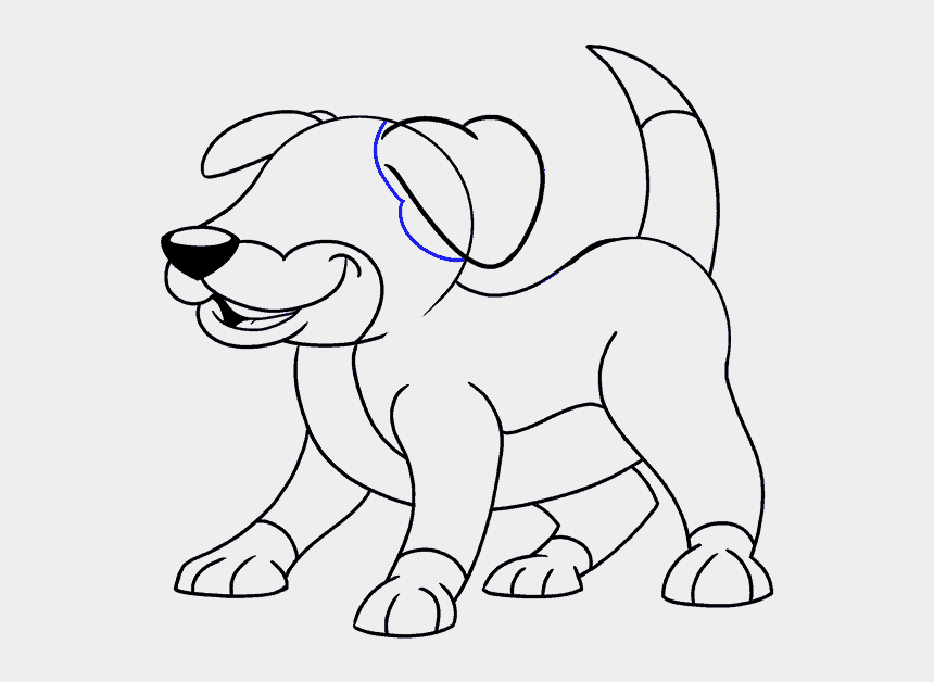 How To Draw A Cartoon Dog Easy Drawing Guides Draw A Scary Dog
